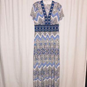 NWT Wisp Stitch Fix Blue White Dress 8